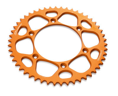 Kettenrad Alu orange